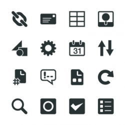 Web Developer Tool Silhouette Icons