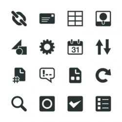 Web Developer Tool Silhouette Icons