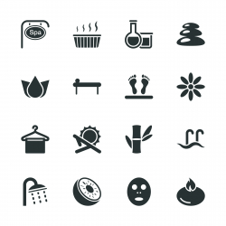 Spa Silhouette Icons