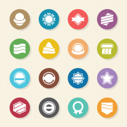 Label Icons Set 4 - Color Circle Series