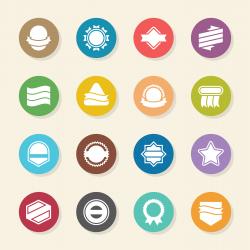 Label Icons Set 4 - Color Circle Series