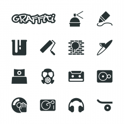 Graffiti Silhouette Icons