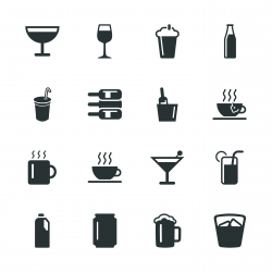 Drink Silhouette Icons | Set 1