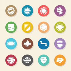 Label Icons Set 5 - Color Circle Series