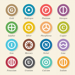 Chemical Element Icons Set 2 - Color Circle Series