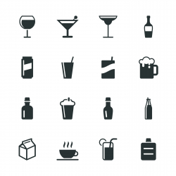 Beverage Silhouette Icons | Set 3