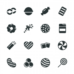 Candy Silhouette Icons | Set 4