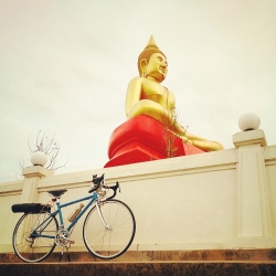 Vintage Bike With Buddha