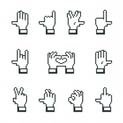 Hand Gestures Silhouette Icons