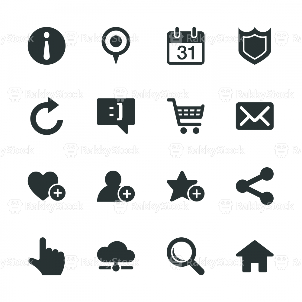 Homepage Silhouette Icons