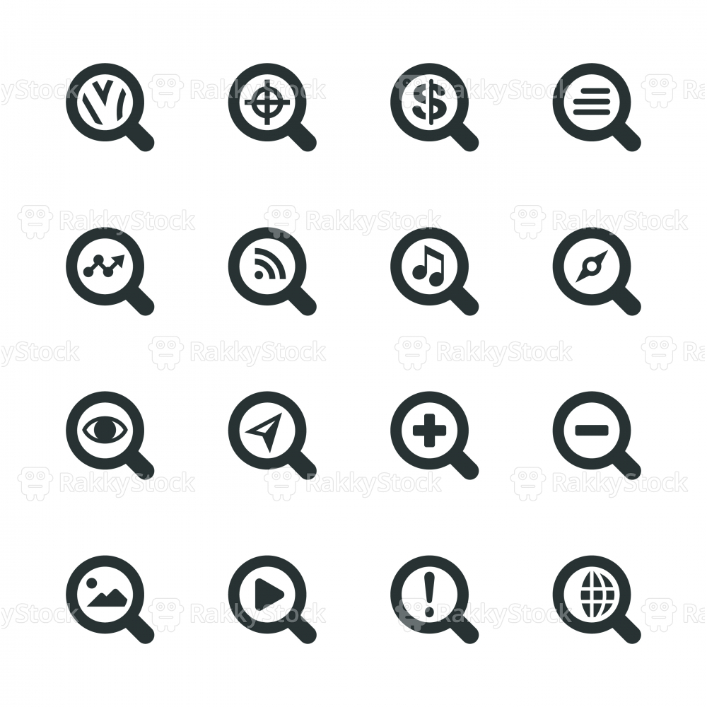 Search Engine Silhouette Icons | Set 1