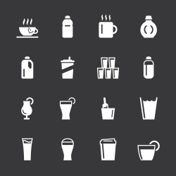 Beverage Icons Set 4 - White Series