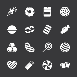 Candy Icons Set 4 - White Series