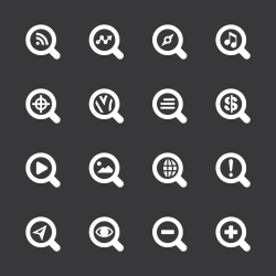 Search Engine Icons - White Series