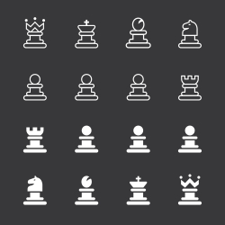 Chess Icons - White Series
