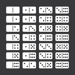 Dominoes Icons Set 2 - White Series