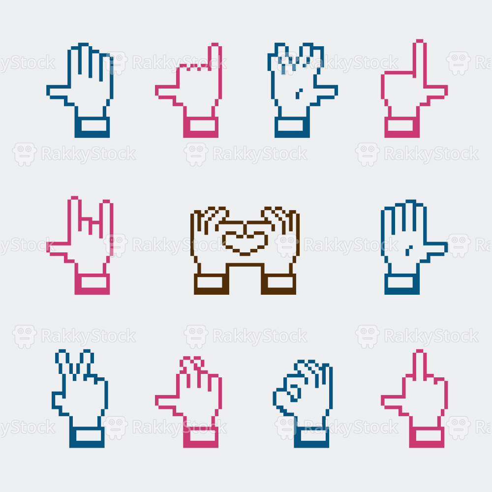Hand Gestures Icons - Color Series