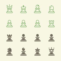 Chess Icons - Color Series