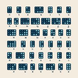 Thai Braille Alphabet Icons - Color Series