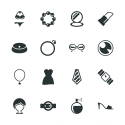Fashion Silhouette Icons