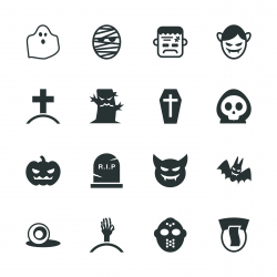 Ghost Silhouette Icons
