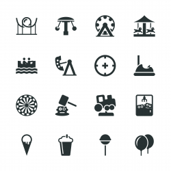 Theme Park Silhouette Icons