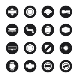 Label Icons Set 1 - Black Circle Series
