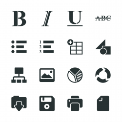 Document Editor Tool Silhouette Icons