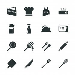 Cooking Silhouette Icons