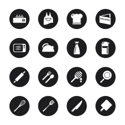 Cooking Icons - Black Circle Series