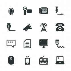 Communication Silhouette Icons   Set 2