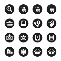 E-commerce Icons - Black Circle Series