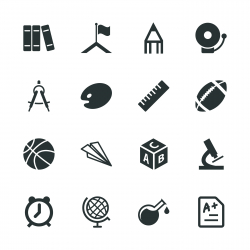 School Silhouette Icons