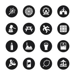 Festival Icons - Black Circle Series