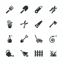 Gardening Silhouette Icons