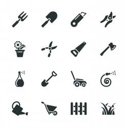Gardening Silhouette Icons