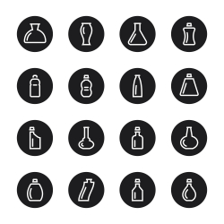 Bottle Icons Set 2 - Black Circle Series
