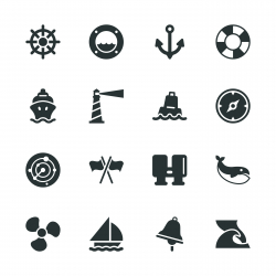 Nautical Silhouette Icons