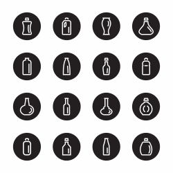 Bottle Icons Set 3 - Black Circle Series