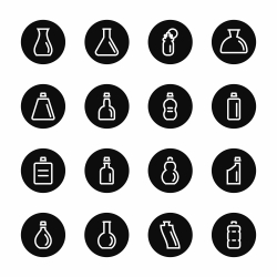 Bottle Icons Set 4 - Black Circle Series