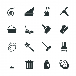 Cleaning Silhouette Icons