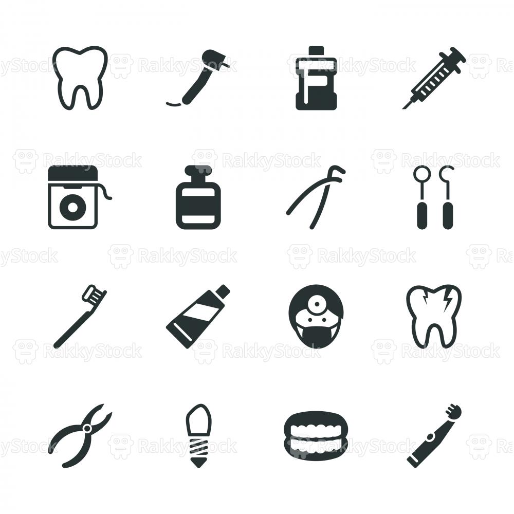 Dental Silhouette Icons