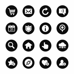 Homepage Icons - Black Circle Series