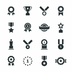 Award Silhouette Icons