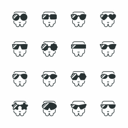 Sunglasses Silhouette Icons