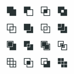 Square Shape Silhouette Icons