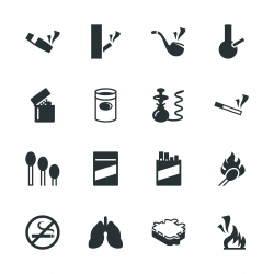 Smoking Silhouette Icons