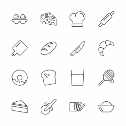 Bakery Icons - Line Series