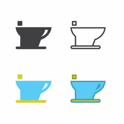 Female Flush Toilet Icon
