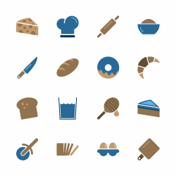 Bakery Icons - Color Series